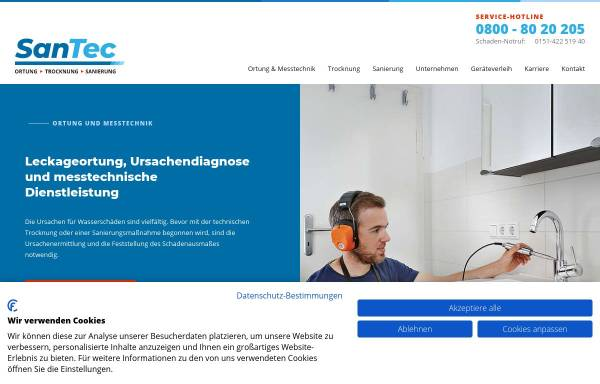 Vorschau von www.santec-verl.de, SanTec - Gebäudetechnik