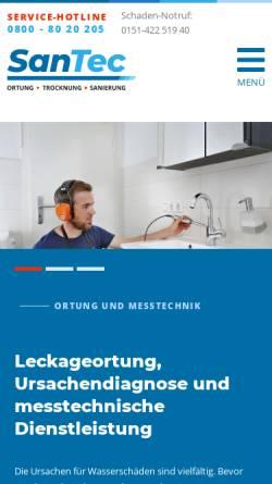 Vorschau der mobilen Webseite www.santec-verl.de, SanTec - Gebäudetechnik