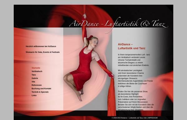 Vorschau von www.airdance.de, Airdance - Luftartistik und Tanz von Leonie Bockemühl