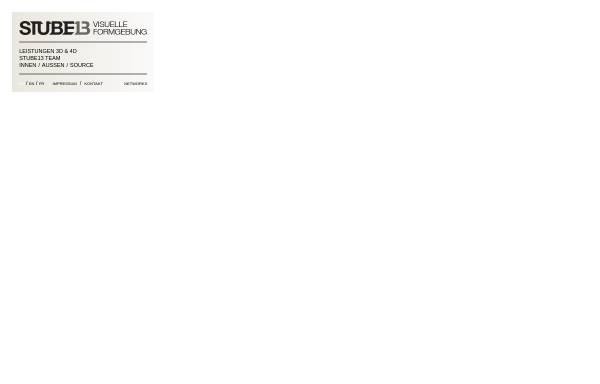 Vorschau von www.stube13.com, STUBE13 - Visuelle Formgebung