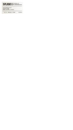 Vorschau der mobilen Webseite www.stube13.com, STUBE13 - Visuelle Formgebung