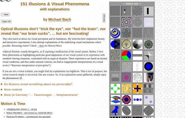 Vorschau von www.michaelbach.de, Michael Bach - Eine Sammlung optischer Täuschungen und visueller Phänomene