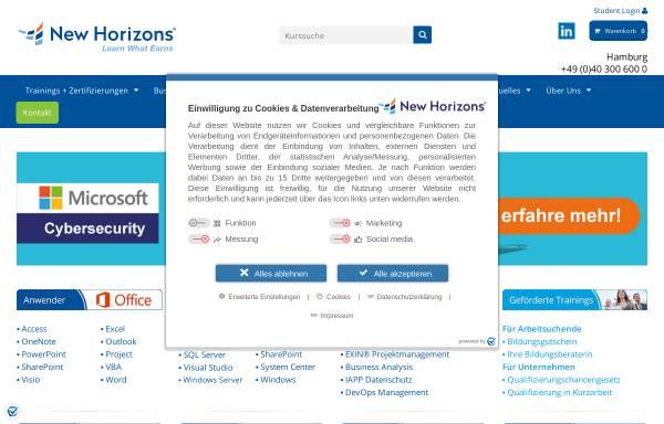 Vorschau von newhorizons-hamburg.de, New Horizons - IT Weiterbildung