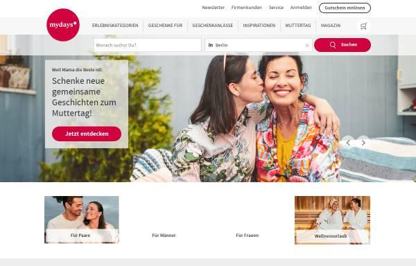 Vorschau von at.mydays.com, MYDAYS Österreich - Erlebnisgeschenke