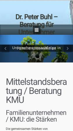Vorschau der mobilen Webseite www.buhlberatung.com, Buhl Beratung - für Inhaber-geführte und Familienunternehmen