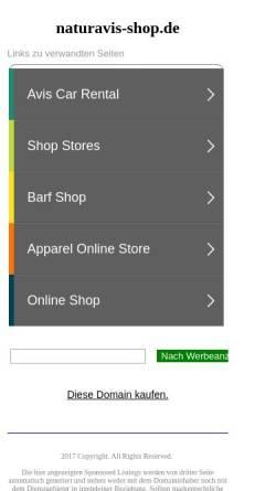 Vorschau der mobilen Webseite naturavis-shop.de, Naturavis