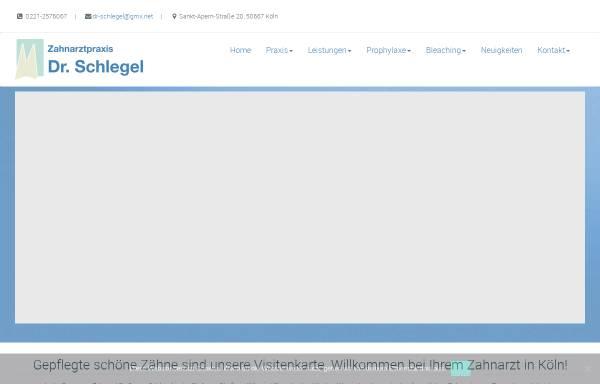 Vorschau von www.zahnarzt-schlegel.de, Zahnarzt Dr. Gregor Schlegel aus Köln