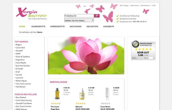 Vorschau von www.xergia.de, Xergia Beautyspot