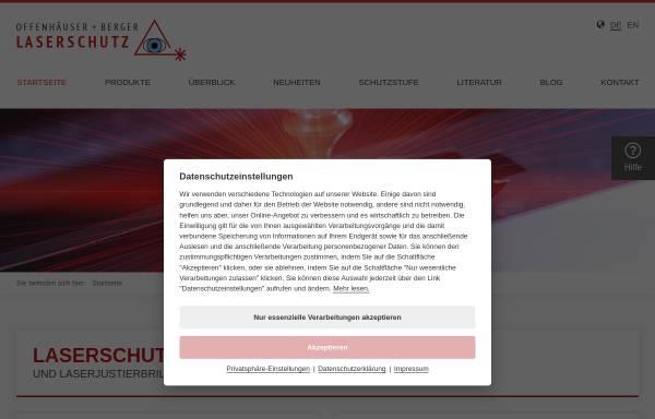 Vorschau von www.offenhaeuser-berger.de, Offenhäuser + Berger GmbH