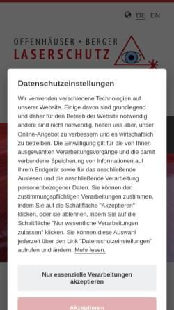 Vorschau der mobilen Webseite www.offenhaeuser-berger.de, Offenhäuser + Berger GmbH
