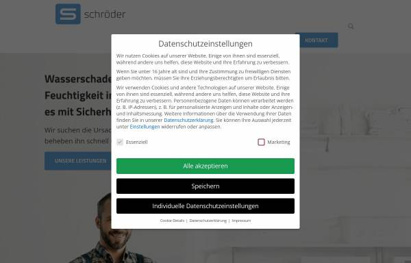 Vorschau von www.elbe-weser-sanierung.de, U. Schröder GmbH - Wasserschadensanierung