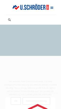 Vorschau der mobilen Webseite www.elbe-weser-sanierung.de, U. Schröder GmbH - Wasserschadensanierung