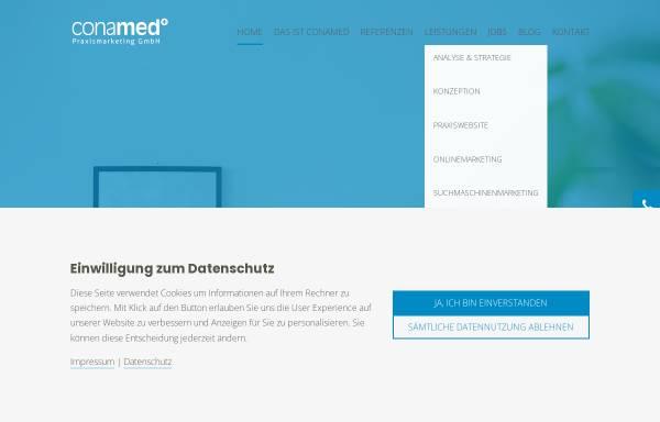 Vorschau von www.conamed.de, conamed - Agentur für Praxismarketing