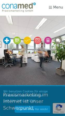 Vorschau der mobilen Webseite www.conamed.de, conamed - Agentur für Praxismarketing