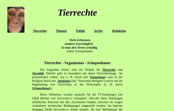Vorschau von www.tierrechte-tv.de, Becker, Herbert - Tierrechte TV