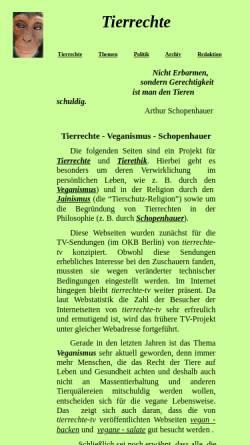 Vorschau der mobilen Webseite www.tierrechte-tv.de, Becker, Herbert - Tierrechte TV