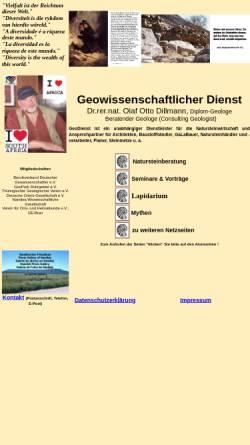 Vorschau der mobilen Webseite www.geodienst.de, Geowissenschaftlicher Dienst Dr. Olaf Otto Dillmann