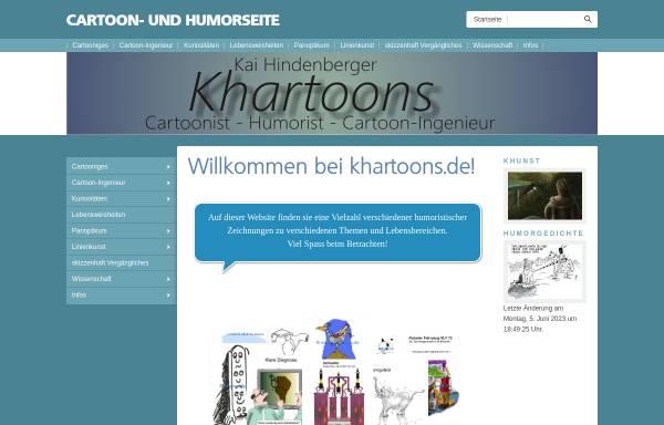 Vorschau von www.khartoons.de, Cartoons von Kai Hindenberger
