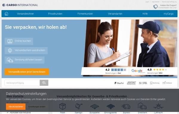 Vorschau von www.cargointernational.de, Logistik und Transporte von Cargo International
