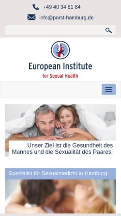 Vorschau der mobilen Webseite porst-hamburg.de, Prof. Dr. Hartmut Porst - Facharzt für Urologie und Andrologie