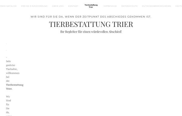 Vorschau von www.tierbestattung-trier.de, CremPet Tierbestattung Trier