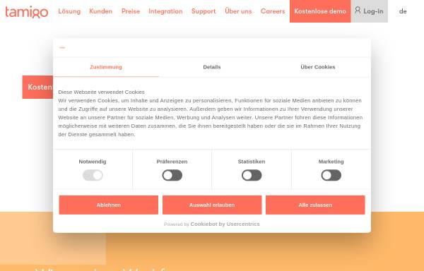 Vorschau von www.tamigo.de, Tamigo GmbH - Personaleinsatzplanung für den Einzelhandel