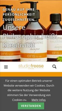 Vorschau der mobilen Webseite www.studio-freese.de, Studio Freese - Friseur in Coburg