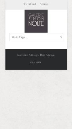 Vorschau der mobilen Webseite www.galerie-nolte.de, Galerie Michael Nolte