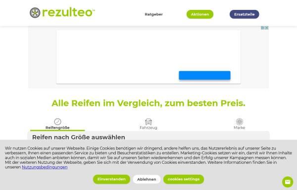 Vorschau von www.rezulteo-reifen.de, Rezulteo Reifen