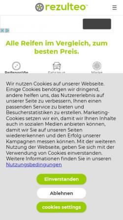 Vorschau der mobilen Webseite www.rezulteo-reifen.de, Rezulteo Reifen