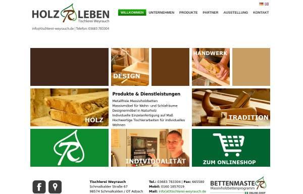 Vorschau von www.tischlerei-weyrauch.de, Tischlerei und Saunabau Weyrauch