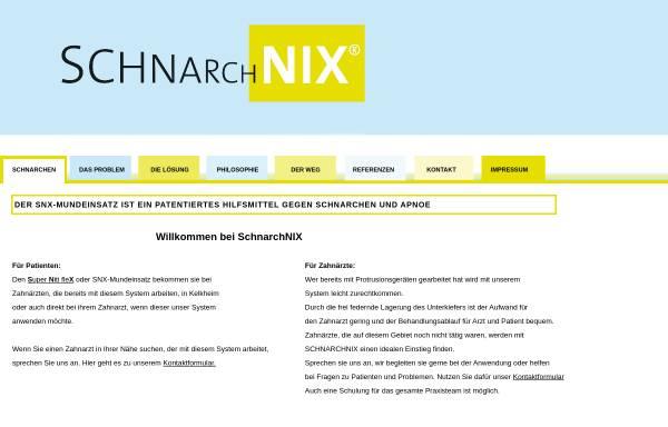 Vorschau von schnarchnix.de, SchnarchNIX - Patentierter, individueller snx-Mundeinsatz als Hilfsmittel gegen Schnarchen