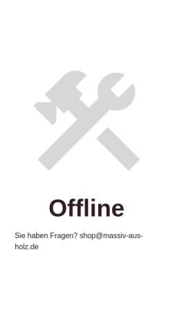 Vorschau der mobilen Webseite www.massiv-aus-holz.de, Massiv aus Holz - Online Shop für Massivholzmöbel aus Kiefernholz