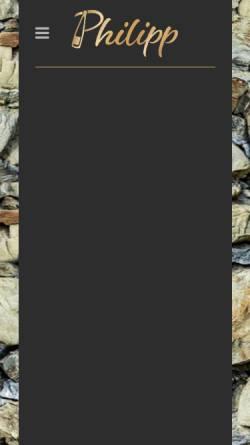 Vorschau der mobilen Webseite www.weingut-philipp.de, Weingut Philippi