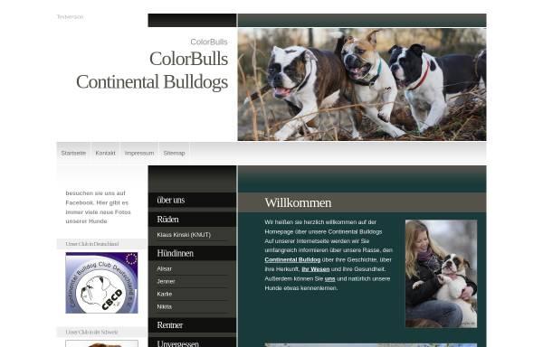 Vorschau von www.continentalbulldogge.com, ColorBulls Continental Bulldogs