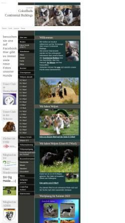 Vorschau der mobilen Webseite www.continentalbulldogge.com, ColorBulls Continental Bulldogs