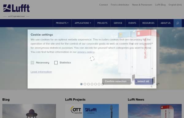 Vorschau von www.lufft.com, Klimamessgeräte der G. Lufft Mess- und Regeltechnik