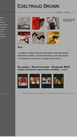 Vorschau der mobilen Webseite edeltraud-brown.de, Brown, Edeltraud