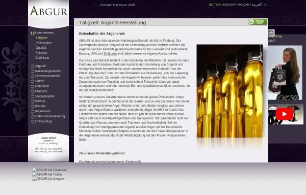 Vorschau von www.abgur.com, Abgur - Bio Arganöl, Bio Kaktusfeigenkernöl und bio Kosmetika