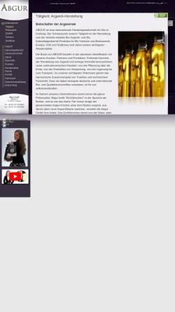 Vorschau der mobilen Webseite www.abgur.com, Abgur - Bio Arganöl, Bio Kaktusfeigenkernöl und bio Kosmetika