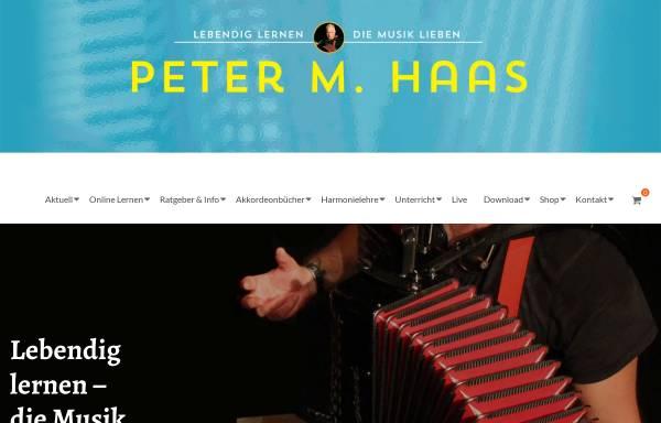 Vorschau von www.peter-m-haas.de, Peter Haas spielt Akkordeon und gibt Akkordeon-Unterricht in Berlin