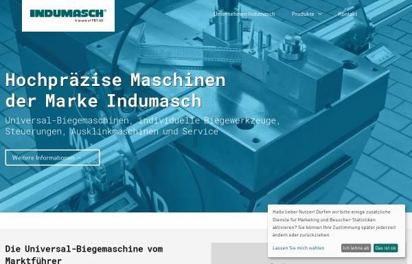 Vorschau von www.indumasch.de, Indumasch GmbH - Biegemaschinen für die Blechbearbeitung