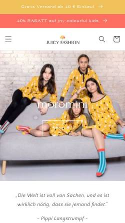 Vorschau der mobilen Webseite www.juicy-fashion.de, Juicy Fashion