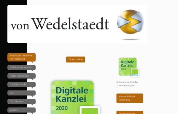 Vorschau von www.von-wedelstaedt.de, Steuerberater H v. Wedelstaedt München