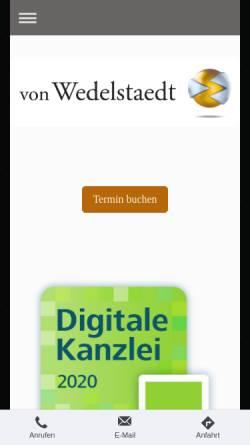 Vorschau der mobilen Webseite www.von-wedelstaedt.de, Steuerberater H v. Wedelstaedt München