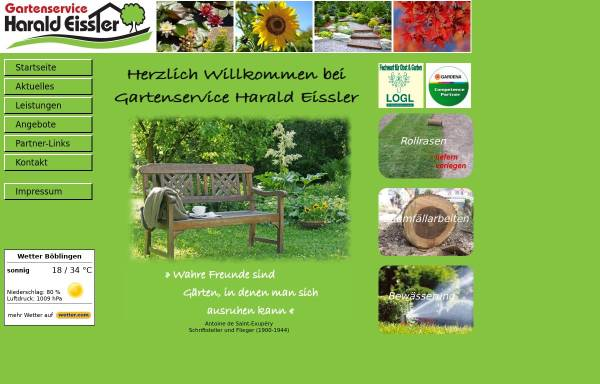 Vorschau von www.gartenservice-eissler.de, Gartenservice Harald Eissler