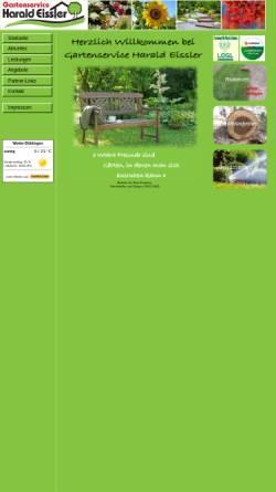 Vorschau der mobilen Webseite www.gartenservice-eissler.de, Gartenservice Harald Eissler