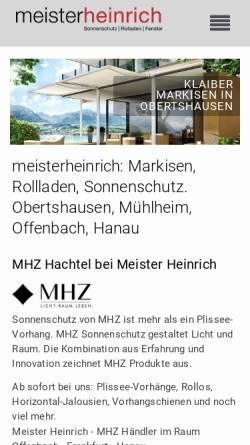 Vorschau der mobilen Webseite www.meister-heinrich.de, Meister Heinrich