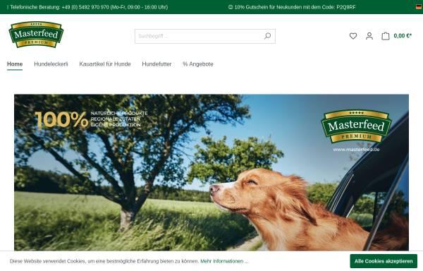 Vorschau von www.masterfeed.de, Masterfeed - leckere Kauartikel und mehr...