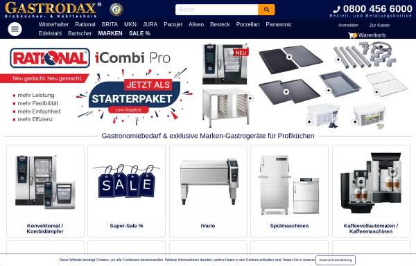 Vorschau von www.gastrodax.de, Gastrodax - Gastronomiebedarf und Großküchentechnik